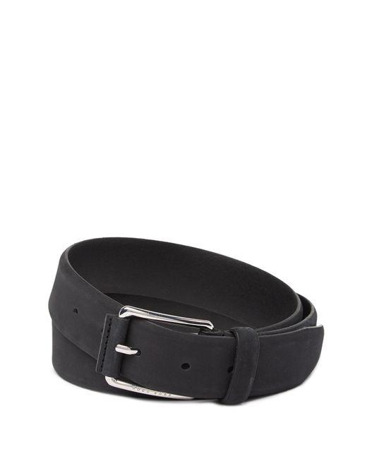 BOSS - Black Catios Nubuck Leather Belt for Men - Lyst