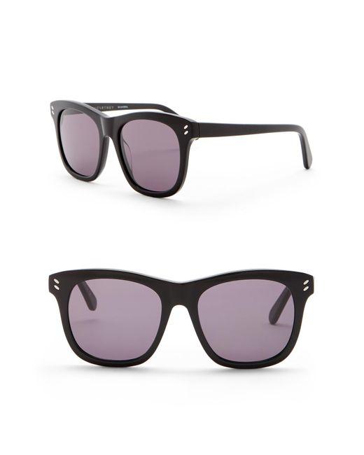 Stella McCartney - Black 52mm Square Sunglasses - Lyst