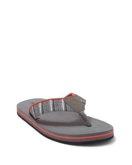 Tommy Bahama Gray Kozu Flip Flop for men