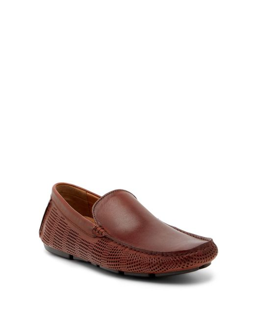 Kenneth Cole Reaction | Brown Perforated Leather Loafer for Men | Lyst