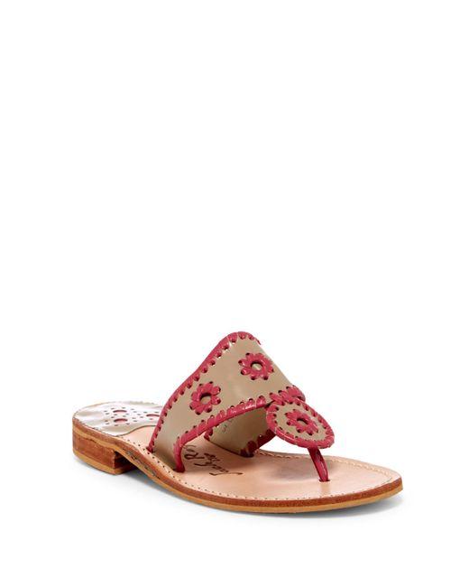 Jack Rogers - Multicolor Palm Beach Thong Sandal - Lyst