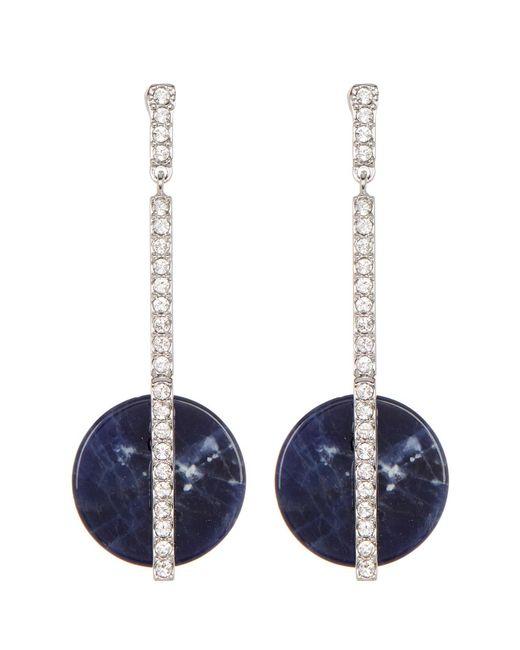 Swarovski - Blue Crystal Drop Earrings - Lyst