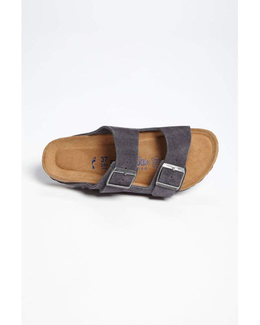da2bdd697f3 ... Birkenstock - Gray Arizona Soft Footbed Sandal (women) (exclusive  Color) - Lyst ...