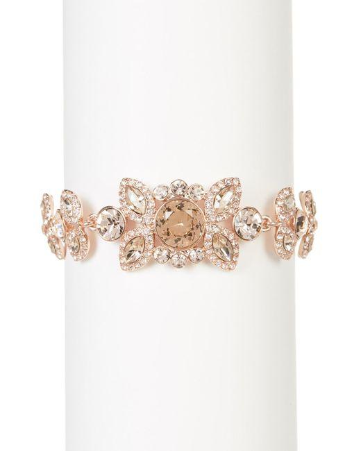Givenchy   Pink Embellished Floral Bracelet   Lyst
