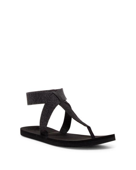 Reef | Black Cushion Moon T-strap Sandal | Lyst