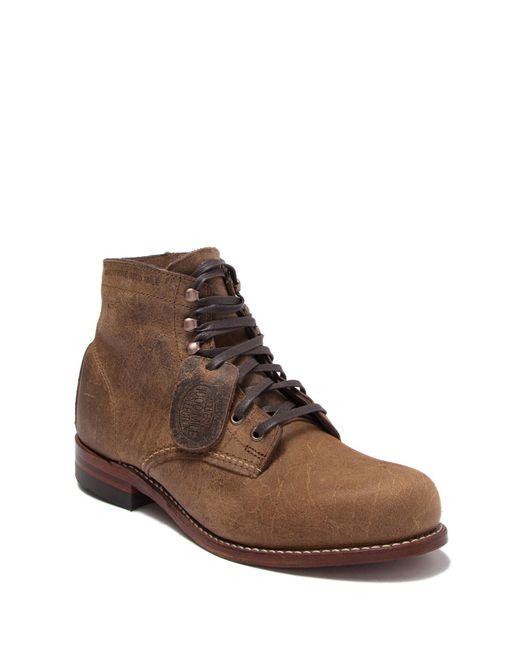Wolverine Brown 1000 Mile Leather Boot for men