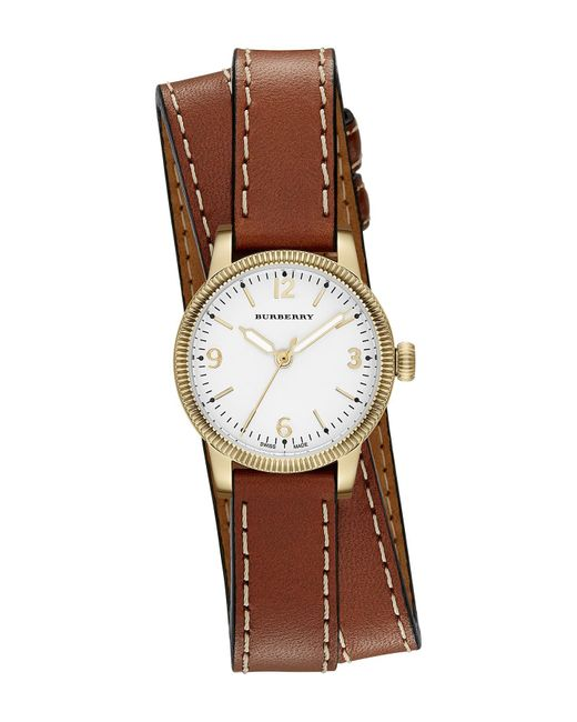 Burberry   Multicolor Women's Double Wrap Band Watch   Lyst