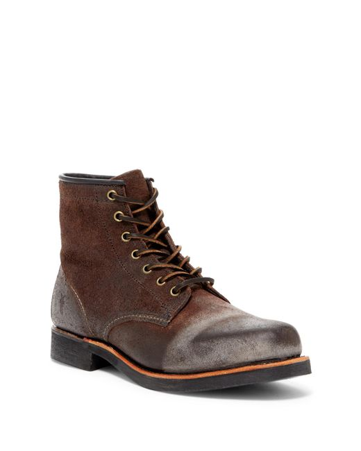 Frye - Brown Arkansas Suede Genuine Shearling Lined Boot for Men - Lyst