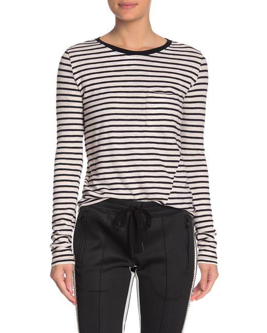 Pam & Gela Black Long Sleeve Striped Shirt