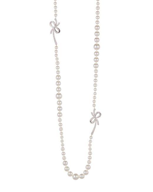 Nadri - Metallic Marion Long 5-10mm Faux Pearl Necklace - Lyst