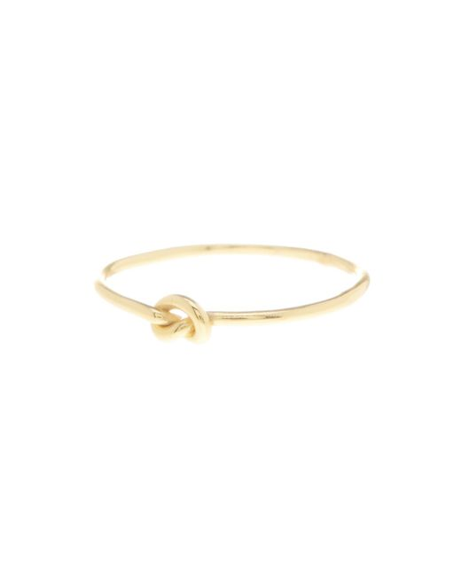 Argento Vivo | Metallic 18k Gold Plated Sterling Silver Loveknot Ring | Lyst