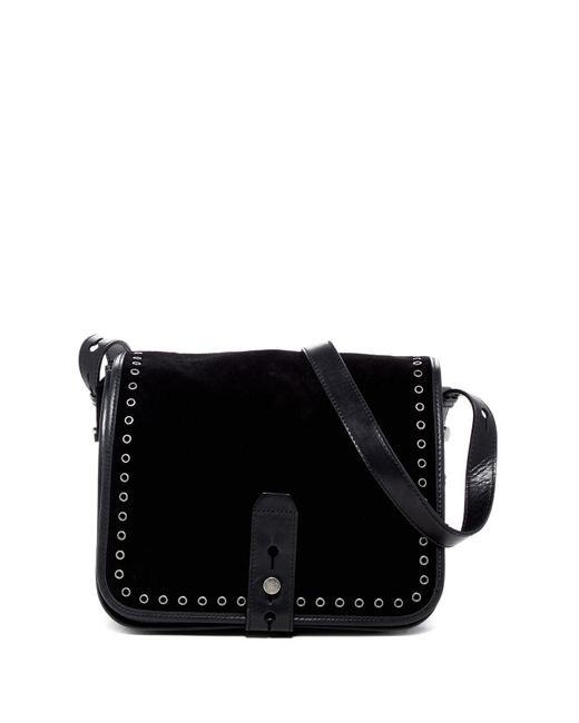 Lucky Brand | Black Rose Suede Crossbody Bag | Lyst