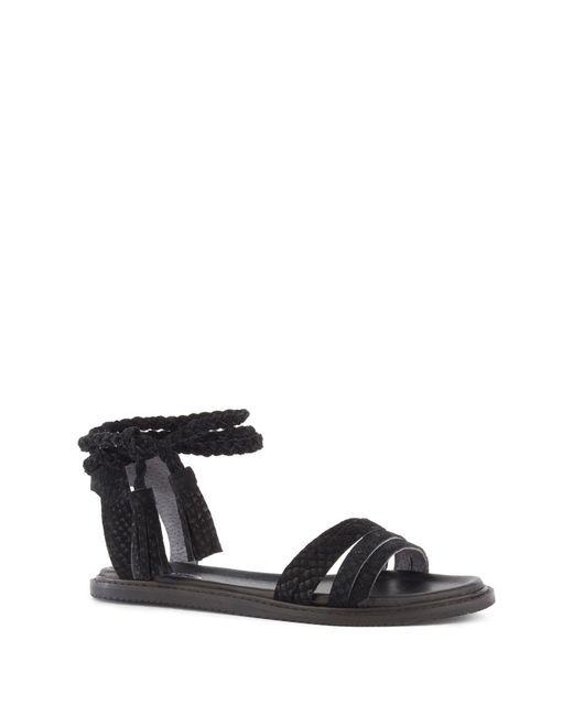 Seychelles - Black Botanical Leather Tassel Wraparound Sandal - Lyst