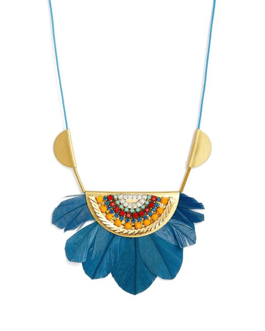 Sandy Hyun - Blue Tucson Feather Pendant Necklace - Lyst