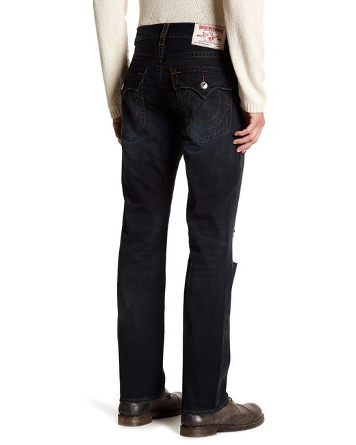 True Religion   Blue Straight Jean With Flap Pockets for Men   Lyst