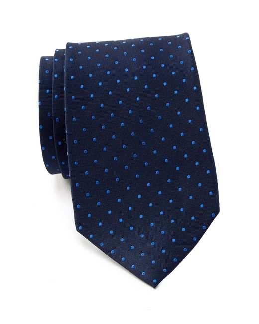Tommy Hilfiger - Blue Contrast Dot Xl Silk Tie for Men - Lyst