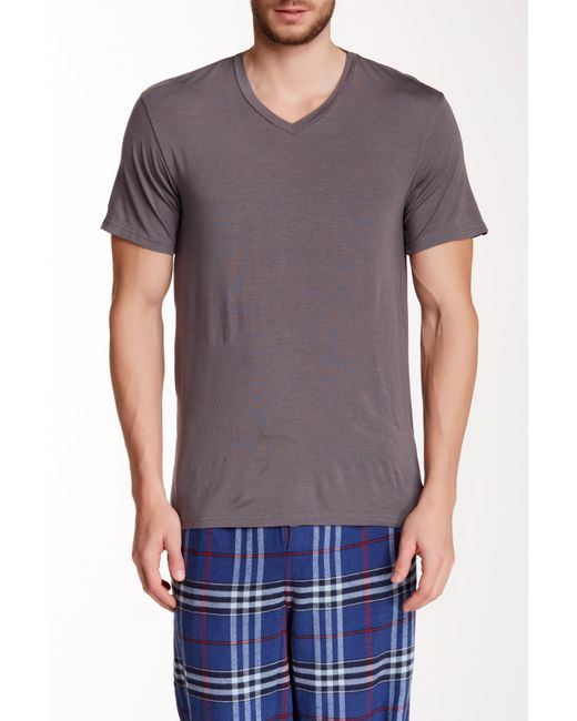 Psycho Bunny - Gray Lounge Solid Tee for Men - Lyst