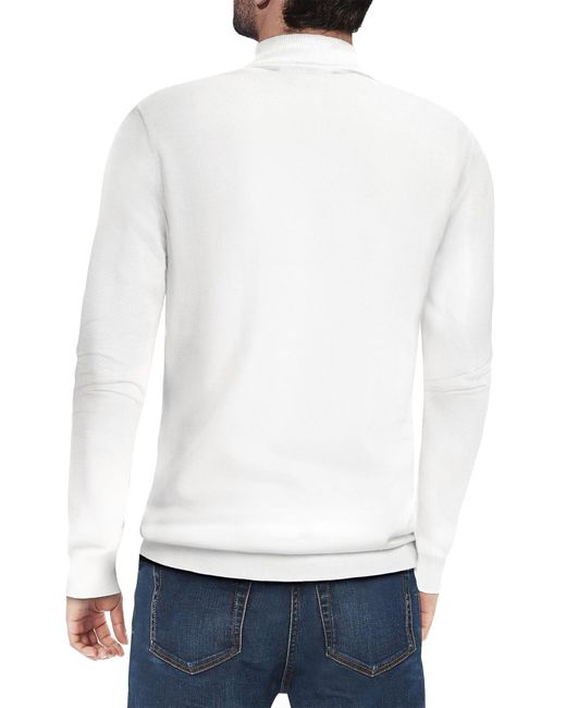 Xray Jeans White Core Mock Neck Sweater for men