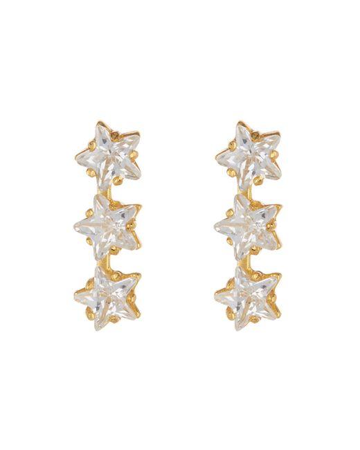 Argento Vivo - Metallic 18k Gold Plated Sterling Silver Triple Star Cz Bar Earrings - Lyst