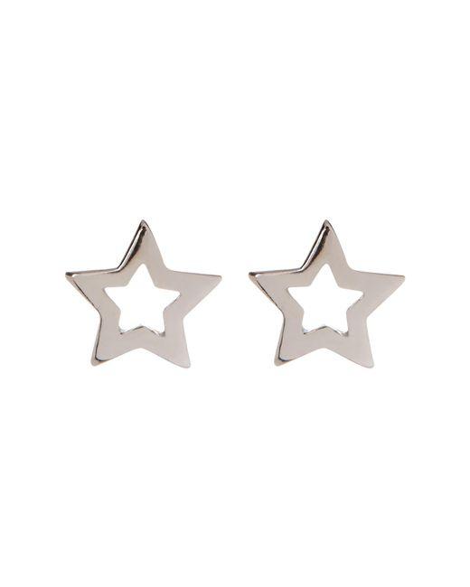 Adornia - Metallic Sterling Silver Cutout Star Stud Earrings - Lyst
