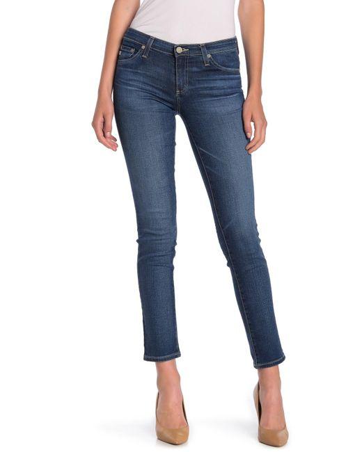 AG Jeans Blue The Stilt Slim Leg Jeans