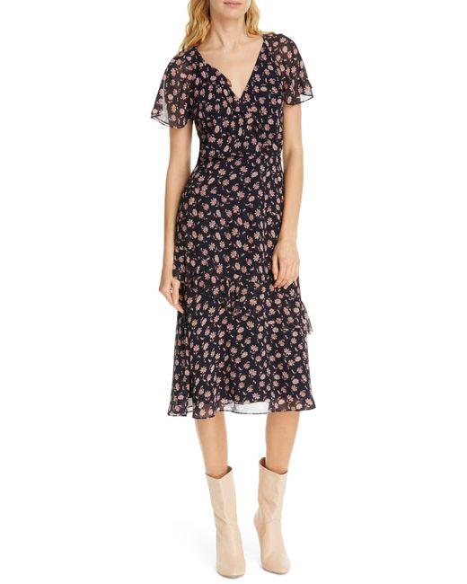 $98 Sophie Max Studio Black//White Geo Print Dress w//Faux Leather Boatneck Trim