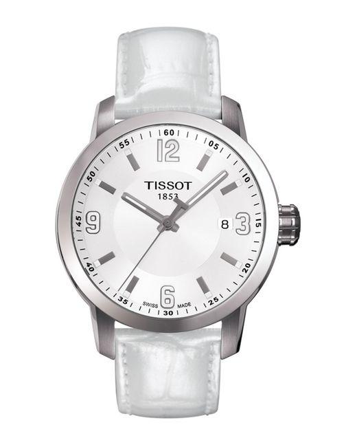 Tissot White Women's Prc 200 Quartz Watch, 39mm