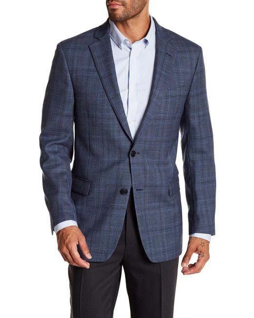 Brooks Brothers - Blue Plaid Two Button Notch Lapel Wool Regent Fit Sport Coat for Men - Lyst