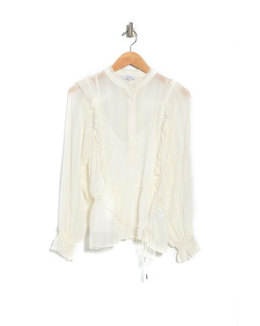 Reiss White Alandra Striped Blouse