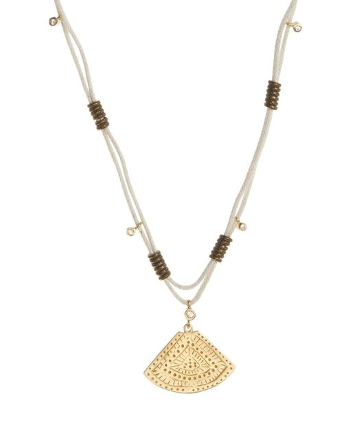 Elizabeth and James - Metallic Mae Beaded Triangle Pendant Necklace - Lyst