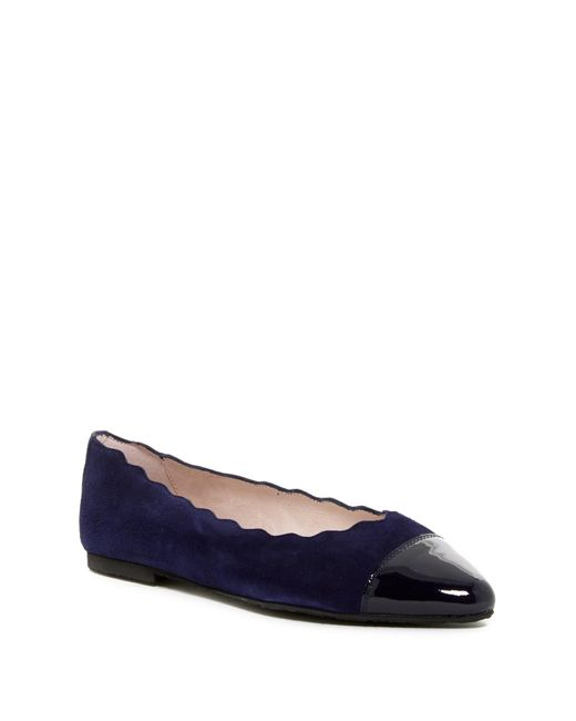 Patricia Green | Blue Saucy Scallop Ballerina Flat | Lyst