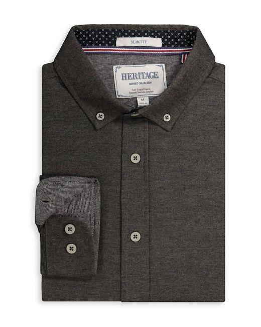 Report Collection Multicolor Melange Regular Fit Sport Shirt for men