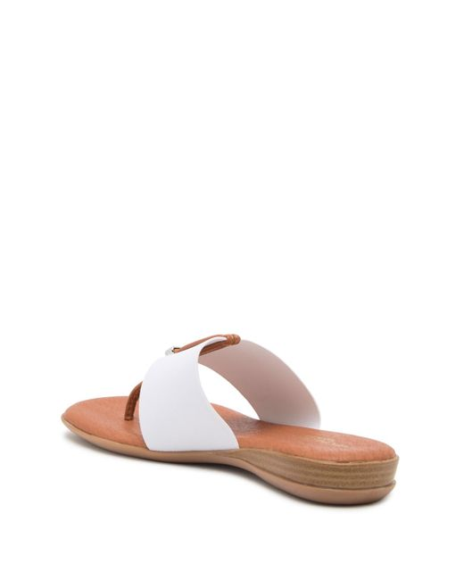 8dc3d892f16a Lyst - Andre Assous Nice Thong Sandal White Fabric in White - Save 40%
