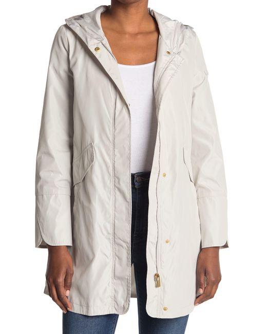 Via Spiga Natural Rain Packable Hooded Jacket