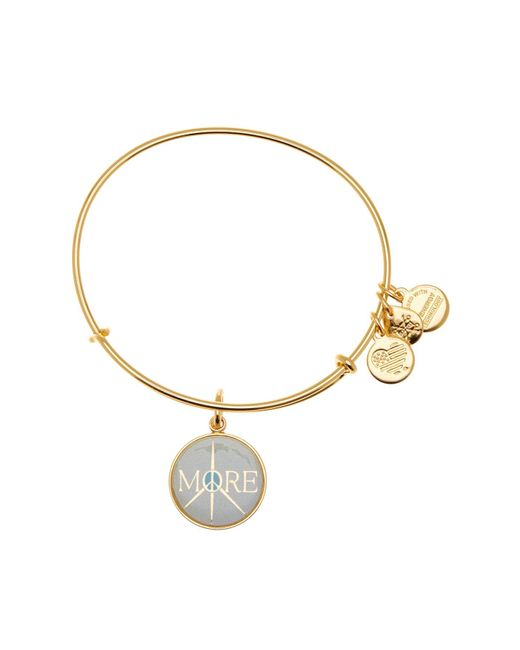ALEX AND ANI - Metallic More Peace Words Are Powerful Expandable Wire Charm Bracelet - Lyst
