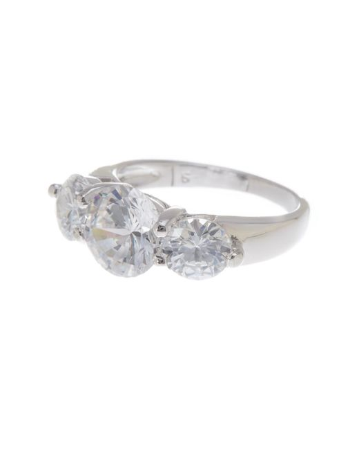 Argento Vivo | Metallic Sterling Silver 3-stone Cz Ring (size 5) | Lyst