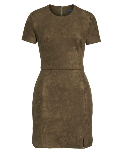 916d3ef30c3 ... French Connection - Multicolor Short Sleeve Faux Suede Dress - Lyst