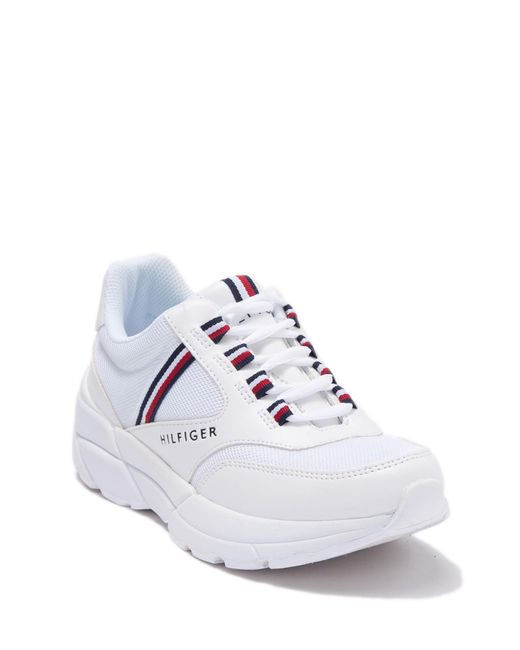 9ab6fef2 Tommy Hilfiger Ernie (white) Lace Up Casual Shoes in White - Save 9 ...