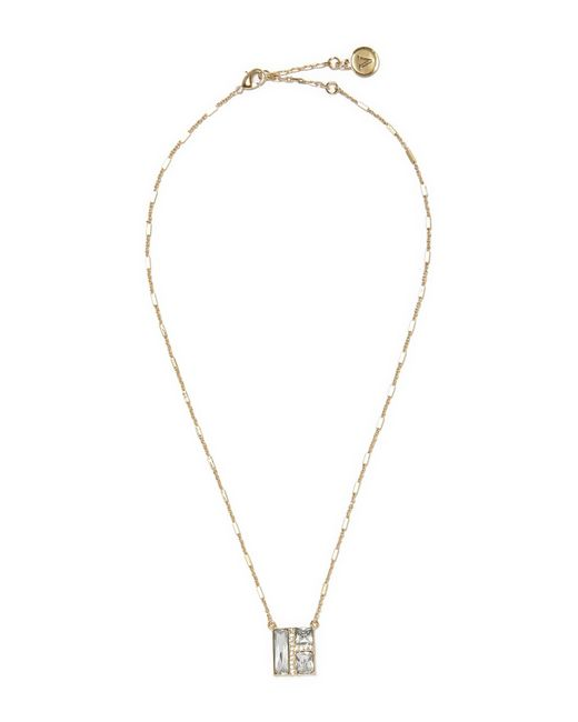 Vince Camuto | Metallic Faceted Crystal Pendant Necklace | Lyst