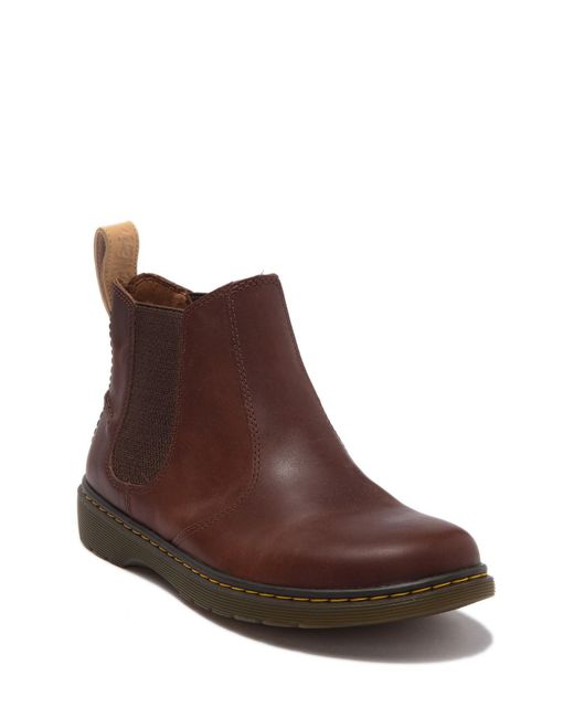 Dr. Martens Brown Lyme Leather Chelsea Boot for men