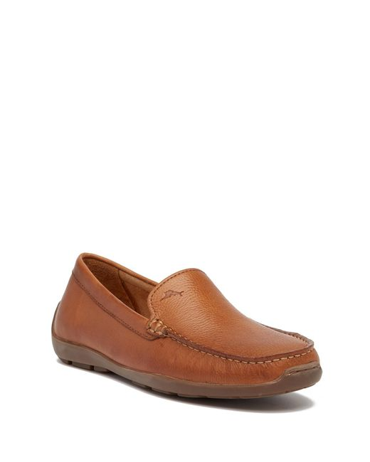 Tommy Bahama | Brown Orion Pebbled Leather Loafer for Men | Lyst