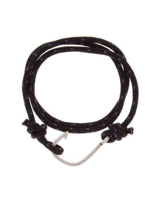 Steve Madden - Black Hook Wraparound Bracelet for Men - Lyst