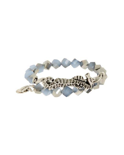 ALEX AND ANI - Metallic Beaded Seahorse Wrap Bracelet - Lyst