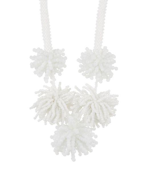 BaubleBar - White Riviera Beaded Statement Necklace - Lyst