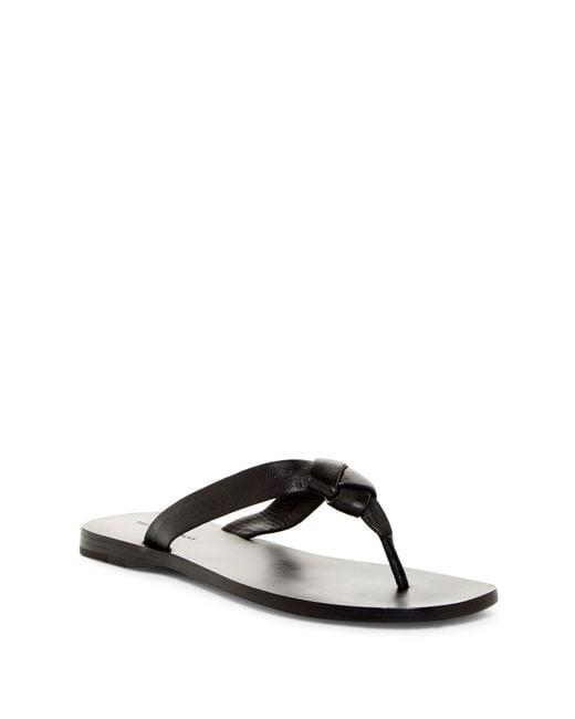 Frye | Black Perry Knot Thong Sandal | Lyst
