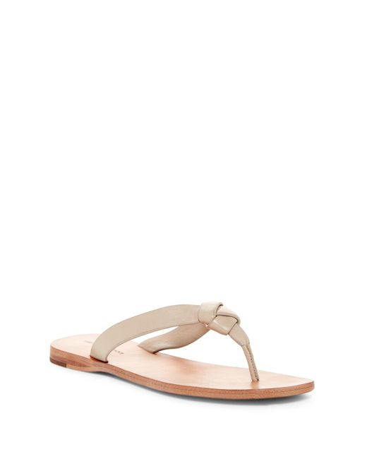 Frye   Natural Perry Knot Thong Sandal   Lyst