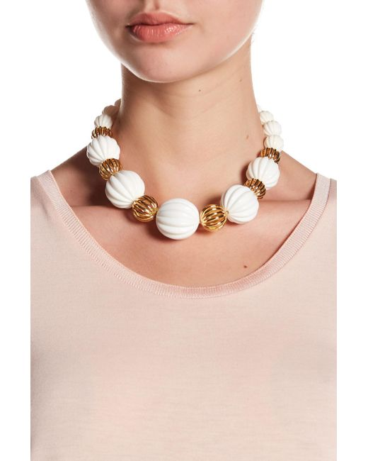 Trina Turk - Multicolor Open & Beveled Bead Necklace - Lyst