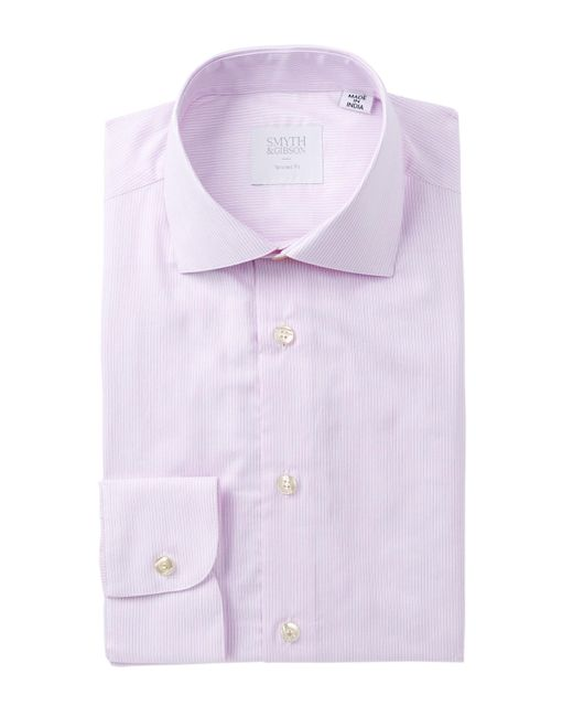 Smyth & Gibson | Purple Dobby Micro Stripe Tailored Fit Dress Shirt for Men | Lyst
