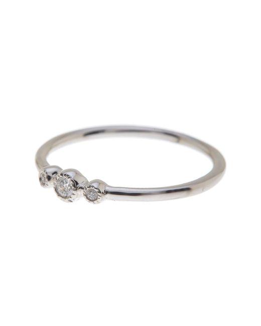 Bony Levy - 18k White Gold Triple Diamond Circles Ring - 0.05 Ctw - Lyst