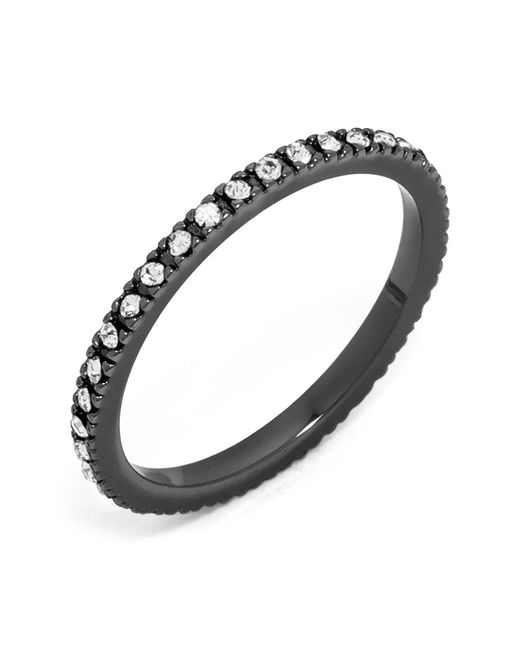 BaubleBar - Metallic Glass Crystal Detail Eternity Ring - Lyst
